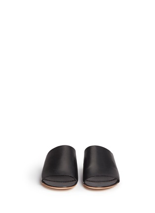 Front View - Click To Enlarge - Mansur Gavriel - Leather flat mules