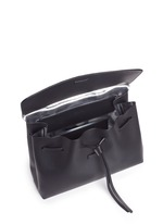 'Lady' large contrast metallic lining leather bag