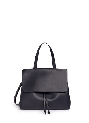 Main View - Click To Enlarge - Mansur Gavriel - 'Lady' large contrast metallic lining leather bag