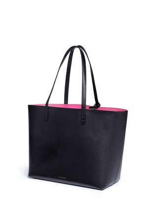 Front View - Click To Enlarge - Mansur Gavriel - Large leather tote with contrast lining