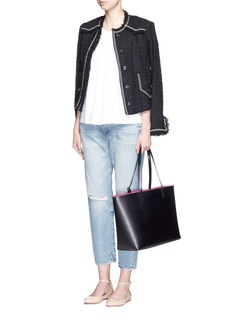 MANSUR GAVRIELLarge leather tote with contrast lining