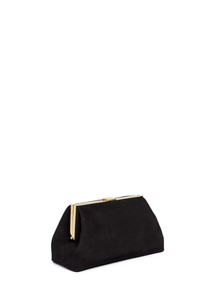 Front View - Click To Enlarge - Mansur Gavriel - Volume' suede clutch