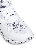 'Tubular Runner' marble print sneakers