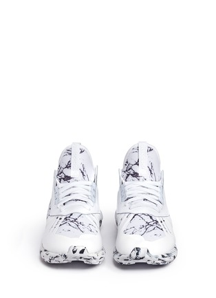 Front View - Click To Enlarge - Adidas - 'Tubular Runner' marble print sneakers