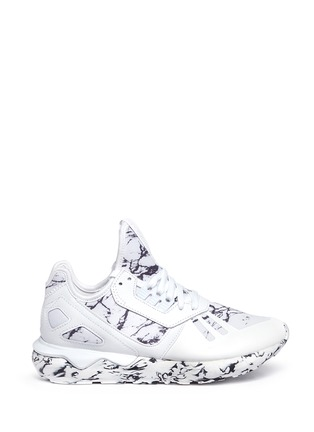 Main View - Click To Enlarge - Adidas - 'Tubular Runner' marble print sneakers