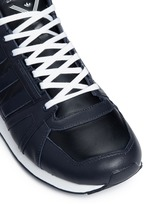'ZX500 Hi' leather sneakers