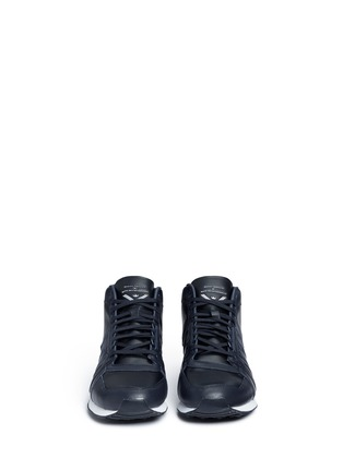 Front View - Click To Enlarge - Adidas - 'ZX500 Hi' leather sneakers