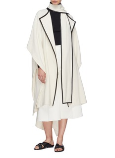 Rosetta Getty Scarf panel cape coat