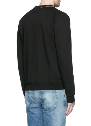 Back View - Click To Enlarge - SAINT LAURENT - Zip crew neck sweatshirt