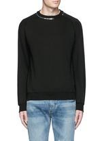 Zip crew neck sweatshirt