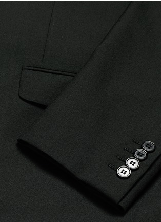 - Saint Laurent - Notched lapel wool hopsack suit