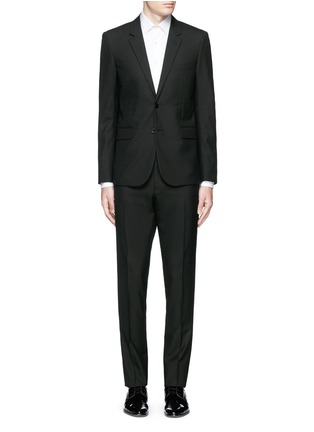 Main View - Click To Enlarge - Saint Laurent - Notched lapel wool hopsack suit