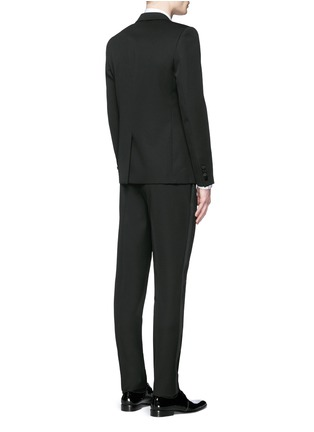 Back View - Click To Enlarge - Saint Laurent - Satin peak lapel virgin wool tuxedo suit
