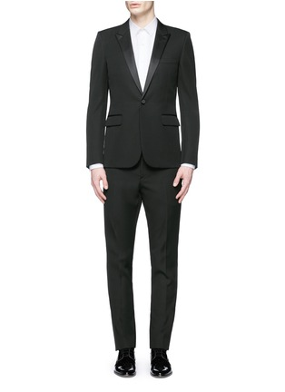 Main View - Click To Enlarge - Saint Laurent - Satin peak lapel virgin wool tuxedo suit