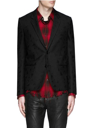Main View - Click To Enlarge - SAINT LAURENT - Triangle jacquard wool twill blazer