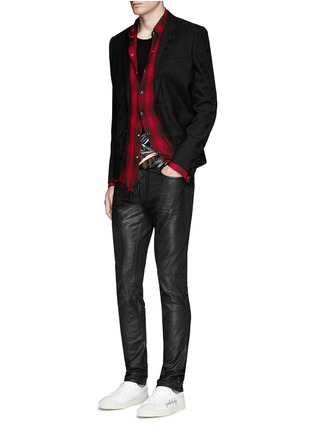 Figure View - Click To Enlarge - SAINT LAURENT - Triangle jacquard wool twill blazer
