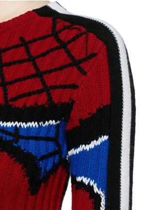 Detail View - Click To Enlarge - Valentino - 'Super-H' Spiderman intarsia wool sweater