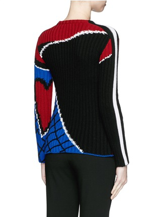 Back View - Click To Enlarge - Valentino - 'Super-H' Spiderman intarsia wool sweater