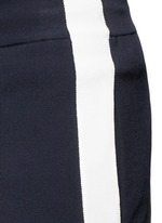 Side stripe bonded jersey pants