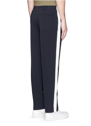 Back View - Click To Enlarge - Valentino - Side stripe bonded jersey pants