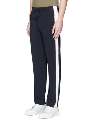 Front View - Click To Enlarge - Valentino - Side stripe bonded jersey pants