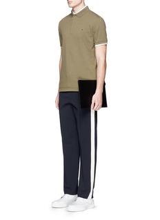 ValentinoSide stripe bonded jersey pants