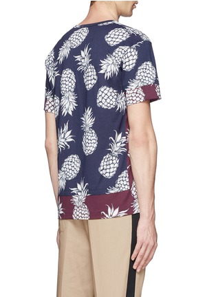 Back View - Click To Enlarge - Valentino - Pineapple print contrast hem T-shirt