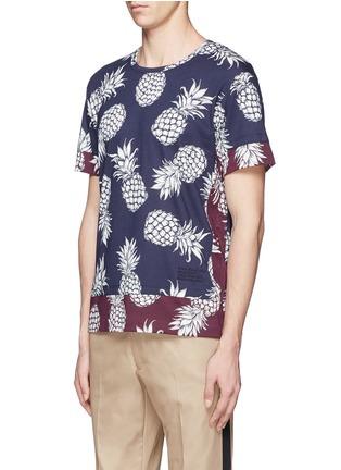 Front View - Click To Enlarge - Valentino - Pineapple print contrast hem T-shirt