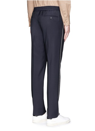 Back View - Click To Enlarge - Valentino - Side piping jogging pants