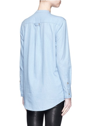 Back View - Click To Enlarge - Equipment - 'Mandel' cotton chambray shirt
