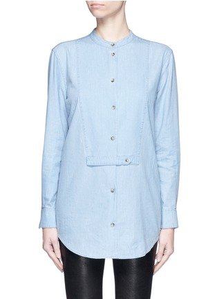 Main View - Click To Enlarge - Equipment - 'Mandel' cotton chambray shirt