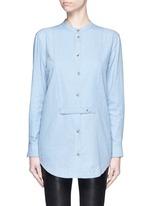 'Mandel' cotton chambray shirt