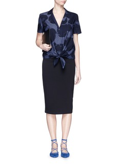 EQUIPMENT'Keira Tie Front' heart print shirt