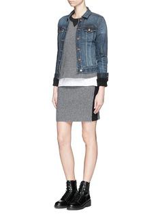 RAG & BONE/JEAN'Nina' contrast intarsia wool-cashmere skirt