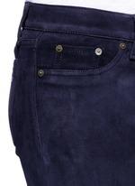 'Skinny' suede pants