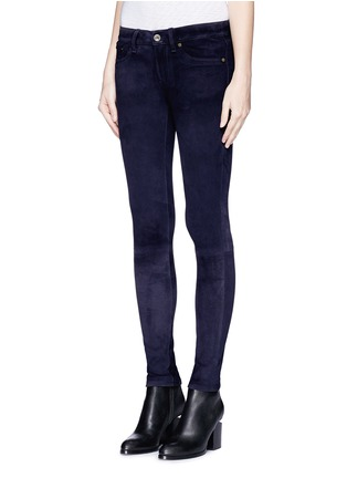 Front View - Click To Enlarge - rag & bone/JEAN - 'Skinny' suede pants