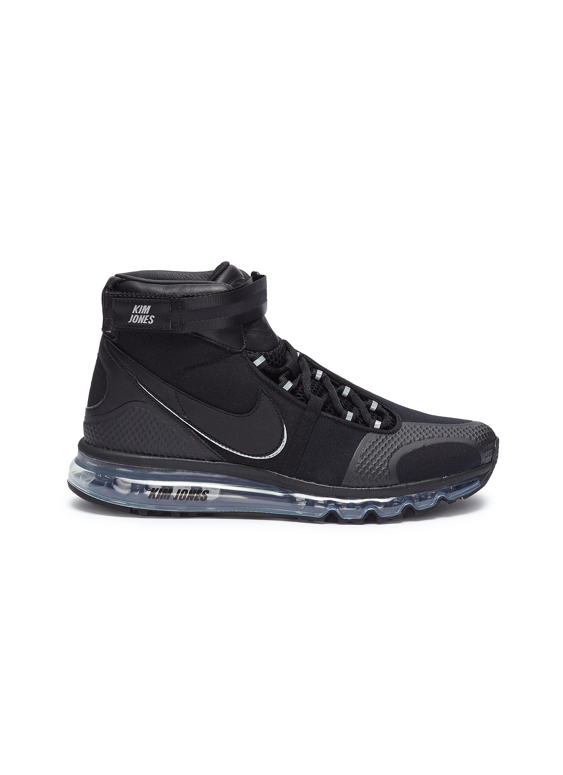 Rick Owens Black Kim Jones Edition Air Max 360 High-Top Sneakers 4wjKtmnpm