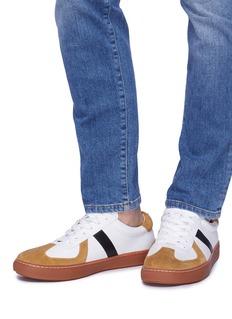 BING XU Germany绒面拼接真皮运动鞋