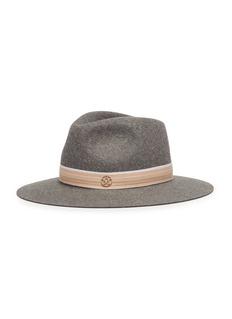 Maison Michel 'Rico' rabbit furfelt fedora hat