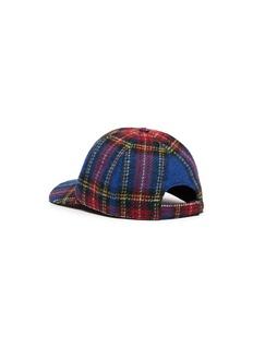 Maison Michel 'Tiger' tartan plaid baseball cap