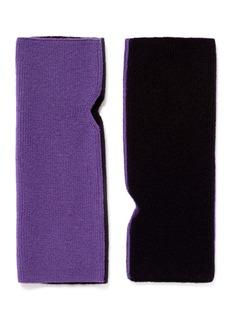 I.S. STUDIOContrast back cashmere knit fingerless gloves