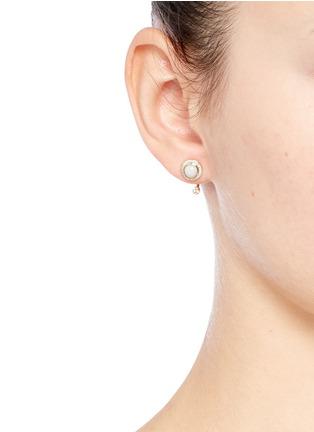 Figure View - Click To Enlarge - Pamela Love - 'Gravitation' diamond pavé opal stud earrings
