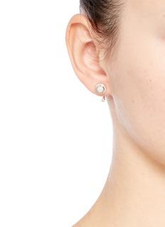 Pamela Love'Gravitation' diamond pavé opal stud earrings