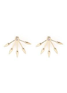 Pamela Love5 Spike' diamond 18k yellow gold fan earrings