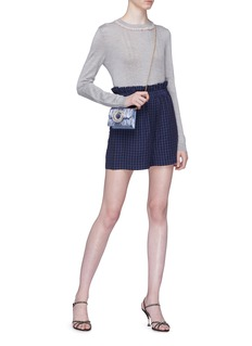 miu miu Lace collar cashmere-silk sweater