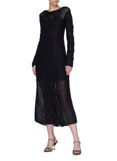 miu miu Mohair blend open knit dress