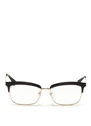 Main View - Click To Enlarge - Prada - Acetate rim metal optical glasses