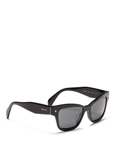 PRADAChunky temple acetate cat eye sunglasses