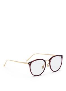 Linda Farrow Acetate rim titanium optical glasses