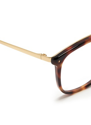Detail View - Click To Enlarge - Linda Farrow - Titanium temple hand moulded acetate optical glasses